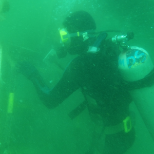 A underwater inspection
